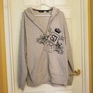 Sean john gray hoodie sweatshirt- zip up style